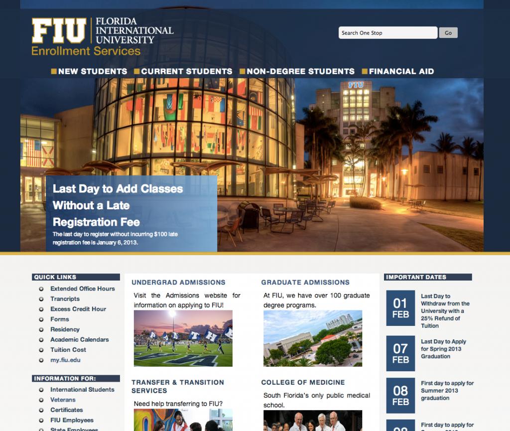 FIU One Stop Enrollment